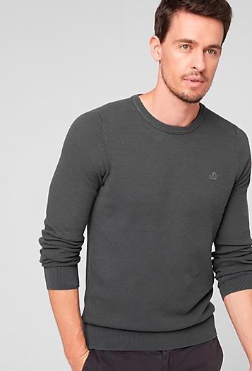 [S.Oliver] bis zu 50% auf Sale + 10% Newsletter-Rabatt, keine VSK, z.B. strukturierter Baumwoll Pullover für 22,49€ statt 40€