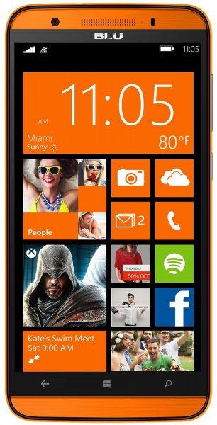 BLU Win HD LTE Smartphone (5,0 Zoll (12,70 cm) Touch-Display, 8 GB Speicher, Windows 8.1) für 109 Euro
