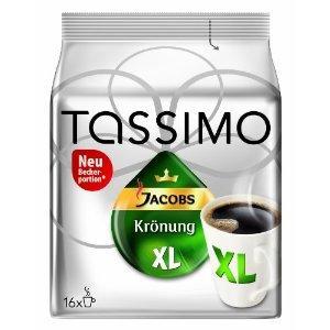 [für Tassimoisten] TASSIMO JACOBS Krönung XL Pads für 2,50€ +10 Kronen -Versand inklusive-
