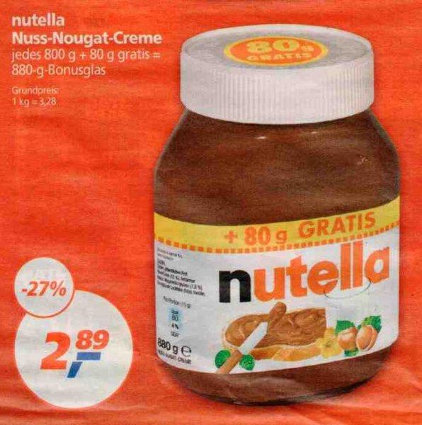 [REAL] KW45: Nutella 880g für 2,89€ (=3,28€/kg) (02.-07.11.) oder 2,79€ (=3,17€/kg) am 04.11. mit Payback