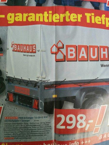 [Bauhaus berlin-treptow ]PKW-Anhänger mit Hochplane und Spiegel