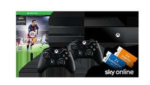 "[Microsoft Store Online ] Xbox One ""Sky Bundle"" 500gb inkl FIFA 16 + 2 Xbox One Wireless Controller für 349€"