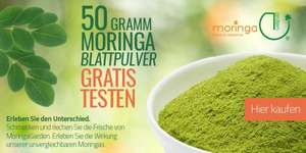 Gratis: 50 g Moringa Blattpulver Bioqualität von MoringaGarden/Teneriffa