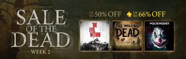 [PSN CA/US] Sale of the Dead Week 2 z.B. Resident Evil (PS4) für 9,56 EUR, RE Revelations 2 (PS4) für 12 EUR, The Walking Dead Season 1 (PS4) für 8,54 EUR, Zombi (PS4) für 9,56 EUR, viele andere Resident Evil-Spiele uvm