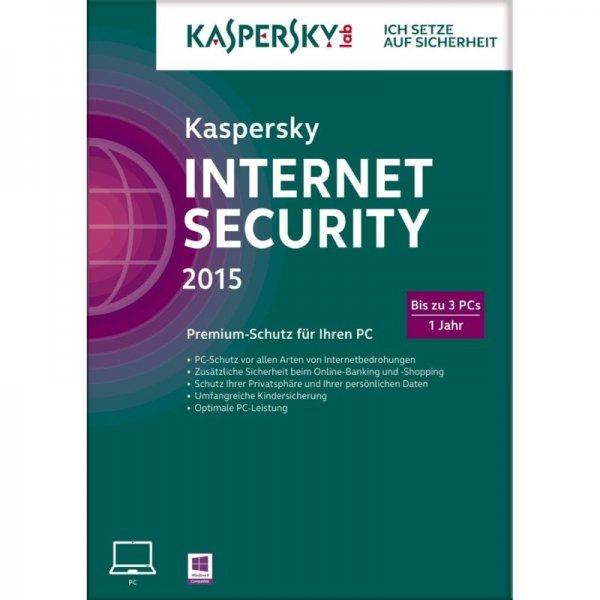[Ebay (Cyberport)] Kaspersky Internet Security 2015 (auf 2016 upgradbar) 3PCs/1Jahr für 14,90€ bei Filialabholung