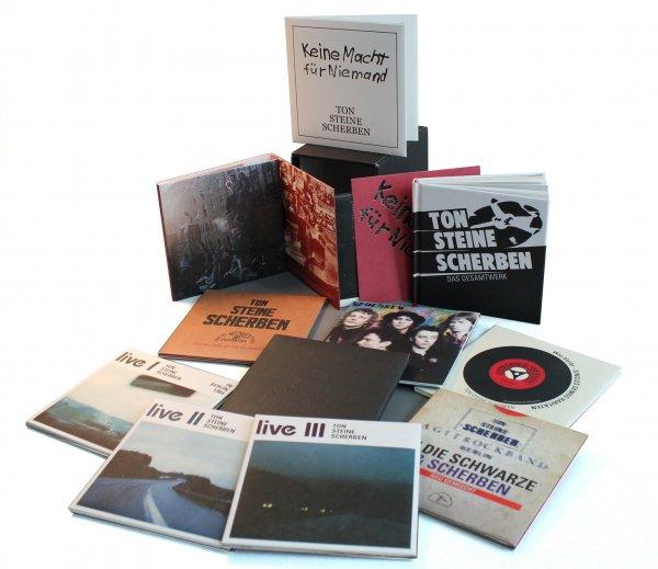 Ton Steine Scherben: Gesamtwerk - Die Studioalben als 13 CD-Box oder 8 Vinyl-Box + Buch