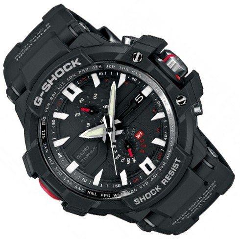 [Uhrzeit.org] Casio G-Shock Solar Herrenchronograph GW-A 1000 wasserdicht 20bar Leuchtzeiger