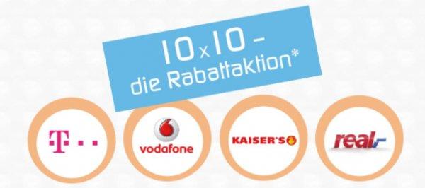 Lokal Berlin und Umgebung: 10 mal 10 % Rabatt auf alles. Wenn Sie bei Kaiser´s oder real mobil mit Ihrem Smartphone bezahlen.
