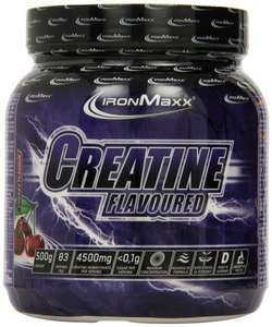 [Amazon.de-Prime] Ironmaxx Creatine Flavoured Kirsche, 1er Pack (1 x 0.5 kg)