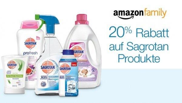 20% bei Amazon Family auf ausgewählte Sagrotan Artikel (Prime benötigt)