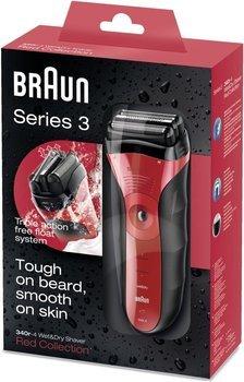 [Saturn] BRAUN Series 3 340, Herrenrasierer, Akkubetrieb, Schwarz/Rot ab 50,-€ Versandkostenfrei