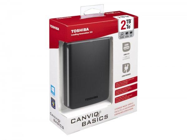 "*ABGELAUFEN* GRAVIS Lokal - Externe USB 3.0 2,5"" 2TB Toshiba Canvio Basics für 39,99€"