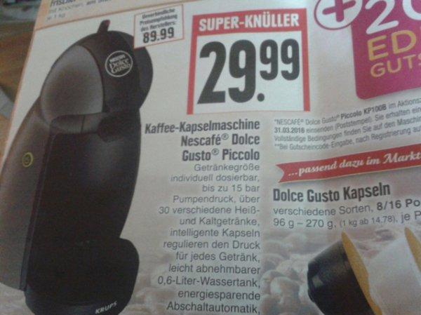 (Lokal) edeka hessen Ring dolce Gusto piccola effektiv 9,99€