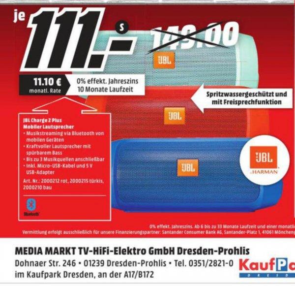 [Dresden Kaufpark] JBL Charge 2 Plus bei Mediamarkt für 111€