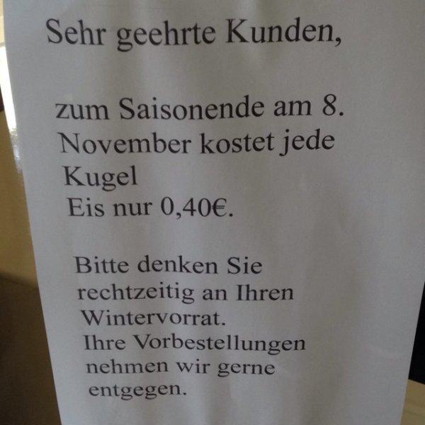 [lokal] Kugel Eis für 40ct bei Kemmerling in Essen Steele am 8.11.