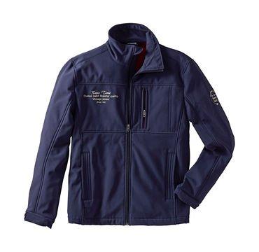Dunkelblaue Herren-Softshell-Jacke mit Fleece-Innenfutter für 10,49 € @ NKD Online