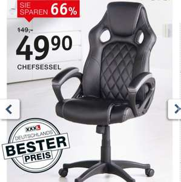 Chefsessel Bürostuhl für 49€ statt 79€! Bei XXXL