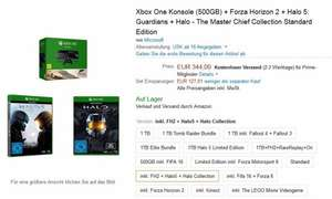[Amazon] Xbox One 500 GB + Halo 5 + Halo Master Chief Collection + Forza Horizon 2 (DL) - 344€