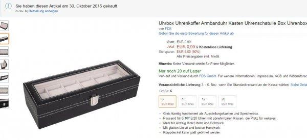 Amazon Uhrbox Uhrenkoffer