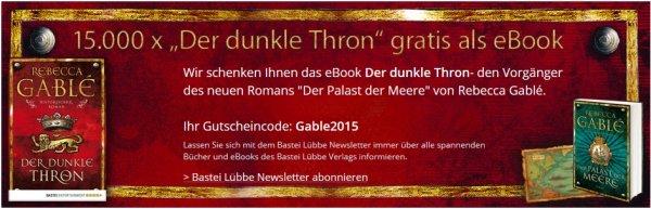 """Gratis E-Book bei Hugendubel: """"Der dunke Thron"""" von Rebecca Gablé im epub-Format"""