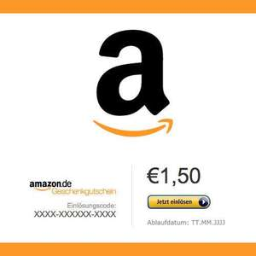 1,50€ Amazon Gutschein für 1€