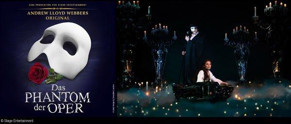 (Lokal Oberhausen) - Phantom der Oper bis zu € 25,00 Ermäßigung pro Ticket