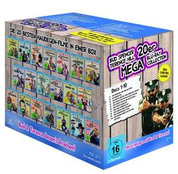 [MediaDealer ] Bud Spencer & Terence Hill - 20er Mega Blu-ray Collection (Blu-ray) für 75,96€ inc. Versand