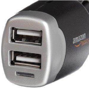 EUR 8,39 - AmazonBasics Dual-USB-Kfz-Ladegerät, für Apple- und Android-Geräte, 4,0 A