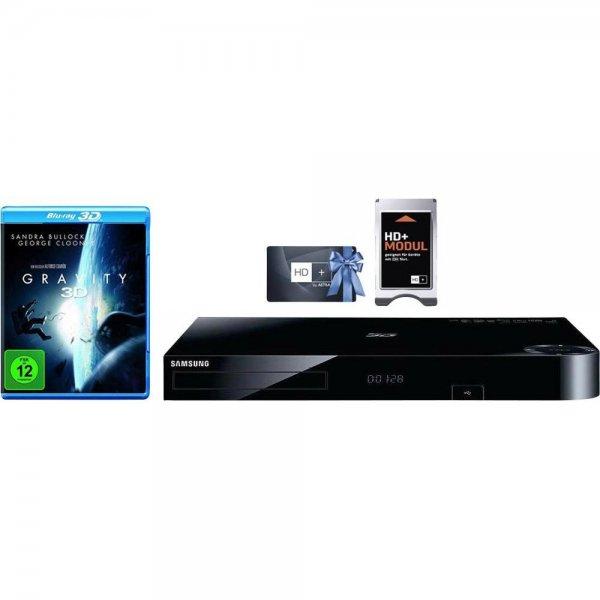 Samsung BD-H8509S 3D-Blu-Ray Player, Twin Tuner, 500GB Festplatte + Gravitiy 3D [Blu-Ray] + HD+ Modul inkl. Karte (12 Monate) für 189,95 € > [Conrad.de] > Vsk frei