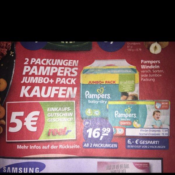 2Stück Pampers Jumbo Pack für 33,88€