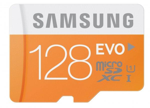 Samsung EVO Speicherkarte MicroSDXC 128GB UHS-I Grade 1 Class 10 mit SD-Adapter für 45,43 € @Amazon.es