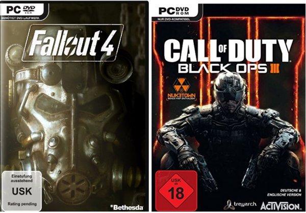 Call of Duty Black Ops III/Fallout 4 PC   Key auf Gameladen mit 25%/15% Rabatt über Barzahlen ab 02.11.2015