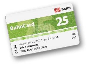 Bahncard 25 für 29 Euro (bis 25 Jahre) ab Montag 02.11 Facebook Aktion