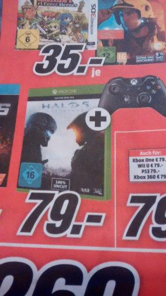 (Bundesweit) Halo 5 + XBOX1 Controller 79€ bzw. 80,98 @Mediamarkt