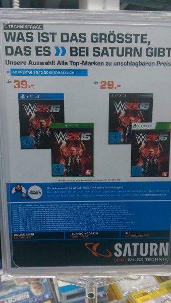 [Lokal Saturn Berlin/Potsdam] WWE2K16 für nur 29€(PS3/360) bzw. 39€(PS4/One)