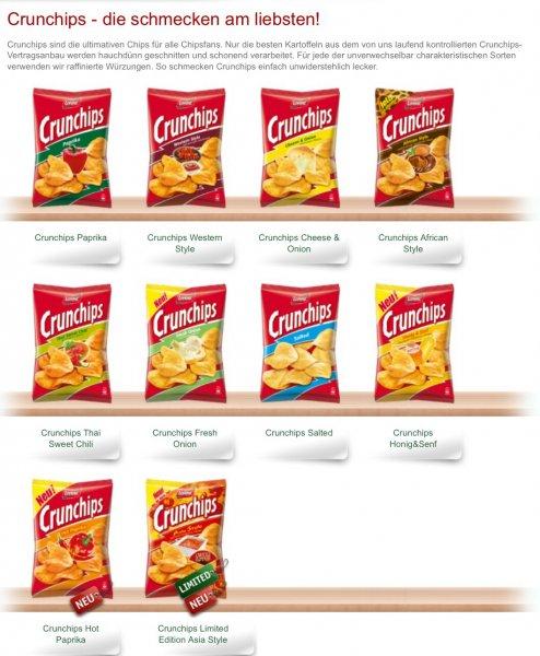 Lokal München ? V-Märkte fast alle - auch limited Crunchips 99 Cent 8 Sorten !
