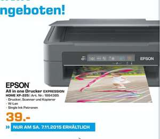 (Lokal) Epson Expression Home XP-225 für 39€ @ Saturn Wuppertal