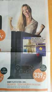 [Lokal Berlet Ennepetal] Playstation 4 (500 GB) inkl. Uncharted: The Nathan Drake Collection + 90 Tage PSPlus