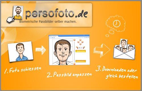 Deine 6 Passbilder kostenlos  auf Premium Fotopapier inklusive Versand bei Persofoto.de