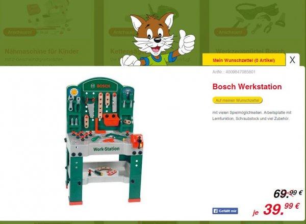 *offline* Rofu Kinderland Theo Klein 8580 - Bosch Workstation 60 x 78 cm, Spielzeug