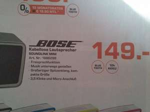 Bose Soundlink Mini ( Saturn Aachen)