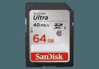 SANDISK SDXC Ultra 64GB, Class 10, UHS-I, 40MB/Sec , Class 10, 64 GB