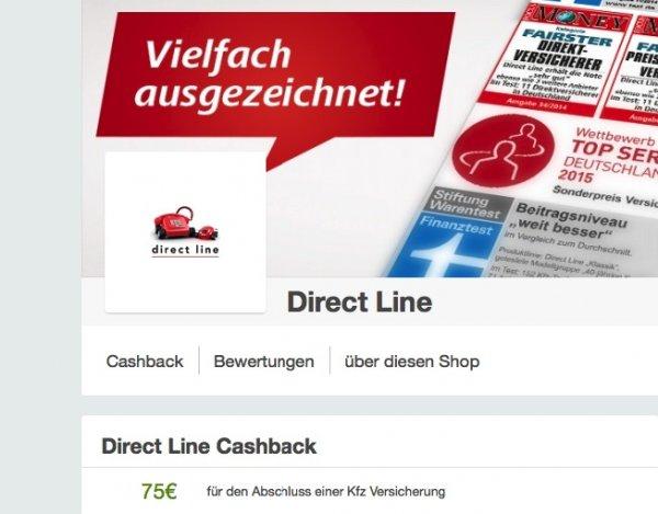 nochmal: KFZ Versicherng wechseln, direct Line gibt über Qipu jetzt 75 EURO