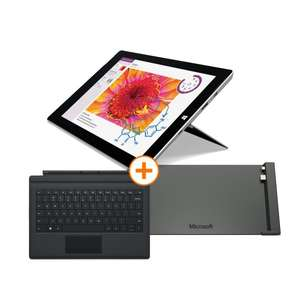 [NBB] Microsoft Surface 3 mit 4GB RAM und 128GB SSD + Type Cover + Docking Station für 749€
