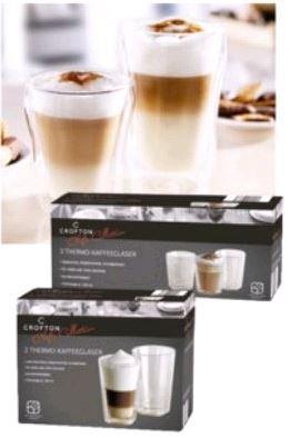 Thermo-Kaffeegläser bei Aldi Süd ab dem 31.10.2015 in rund oder eckig 250 oder 440ml