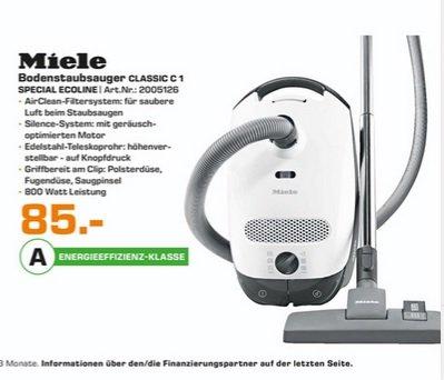 (lokal) Miele Classic C1 Special SBAG1 für 85€ @ Saturn Karlsruhe