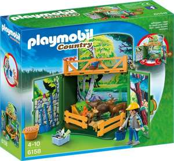 < Amazon Prime > Playmobil Aufklappbox Waldtierfütterung