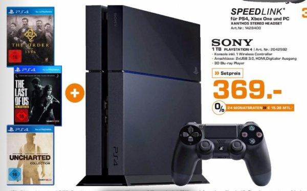 [Lokal Kiel] Playstation 4 1TB (CUH-1216B) + Uncharted: The Nathan Drake Collection , Last Of Us & The Order: 1886