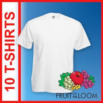 10 er Pack T-Shirts für Herren in weiß für 21,94€ inkl. Versand / Preis pro Shirt ca. 2,20€