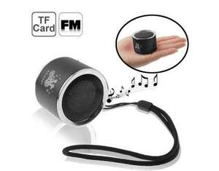 Mini Aluminium  MP3 Player und  Lautsprecher - schwarz